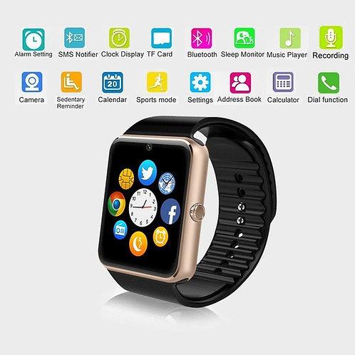 Relógio inteligente Gt08, c/Bluetooth, para Android e iPhone IOS
