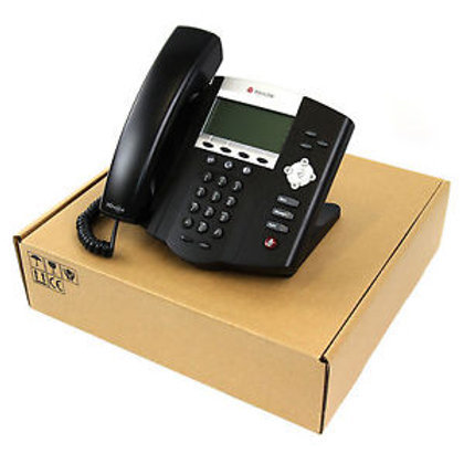 IP Phone Polycom IP450 PoE LAN HD Voice - Novo