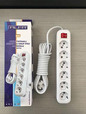 Bloco de tomadas eléctricas ALFA 2 e 5 metros c/interruptor