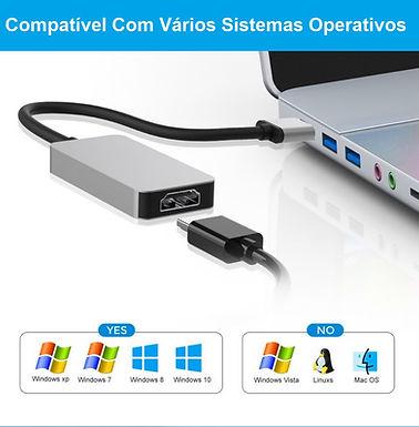 Conversor e Adaptador USB 3.0 para HDMI com Saída de Audio Alta qualidade