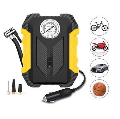 Bomba Compressora de Ar Portátil eléctrica p/Veículos, Motocicletas e Bicicletas