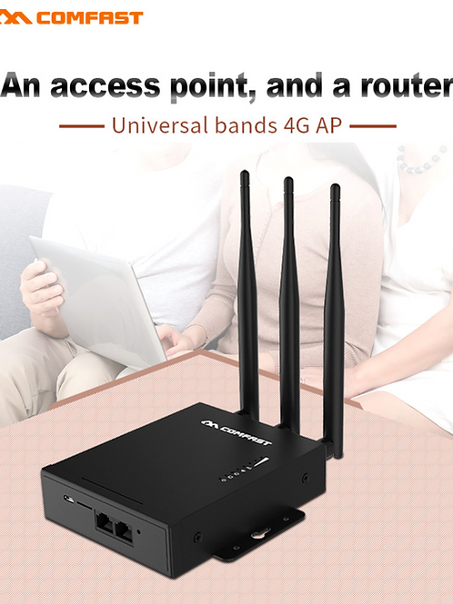 Roteador e Ponto de acesso GSM 3G 4G LTE  Sim Card Wifi router wireless CF-E7