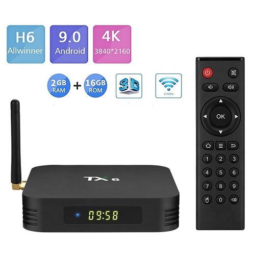 Smart TV BOX TANIX TX6  6K  Allwinner H6 2GB/16GB Android 9.0 WIFI