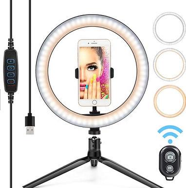 Ring Light Anel de Luz LED com tripé e suporte para telemóvel YOSAN