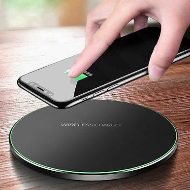 Carregador rápido, sem fio, p/ iPhone X, 8, 8 Plus, XR, XS, Samsung S8 S9  Note9