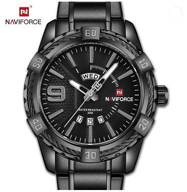 Relógio Desportivo de Luxo para Homem NAVIFORCE 9117S - Preto