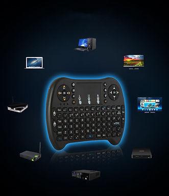 Mini teclado e rato sem fio para Smart TV Box PS3/Tablet/PC