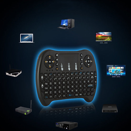 Mini teclado e rato sem fio para Smart TV Box PS3/Tablet/PC