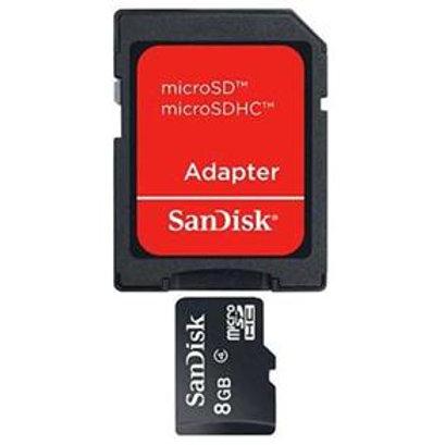 Memória SDHC, 8GB com Adaptador