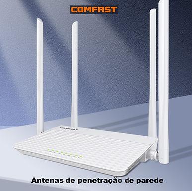 Roteador Gigabit sem fio dual wi-fi 2.4 + 5.8 GHz 1200 Mbps  COMFAST CF-N3 V3