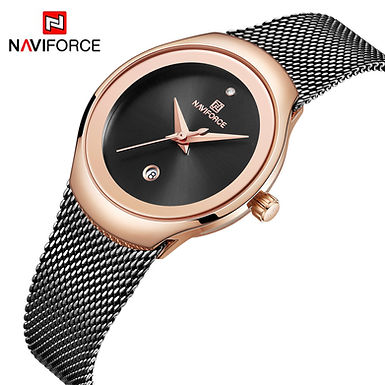 Relógio de pulso para mulher NAVIFORCE - preto