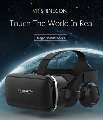 Óculos de realidade virtual VR 3D G04E  BOX SHINECON c/fones e controle remoto