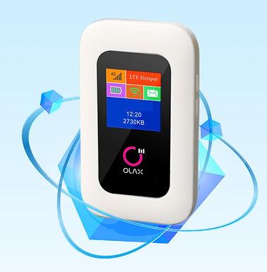 Roteador sem fio 3G 4G LTE  sim card slot 150 Mbps Wifi Moden B1/3/5/8 - preto