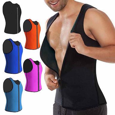 Cinta modeladora corporal masculina. Ajuda a queimar gordura abdominal.
