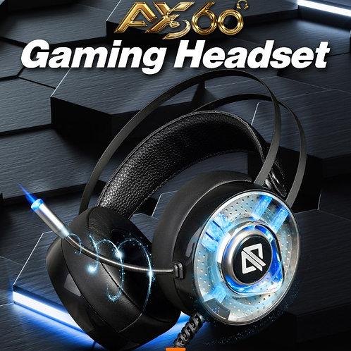 Auriculares AJAZZ AX360 gaming com microfone de luz RGB