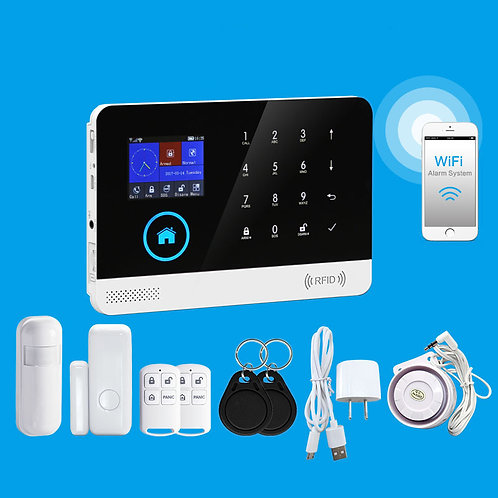 Sistema inteligente de segurança residêncial PST-WG103 WIFI+GSM+GPRS