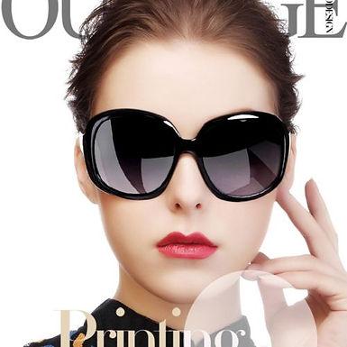 Óculos clássicos de sol feminino, formato Oval UV400