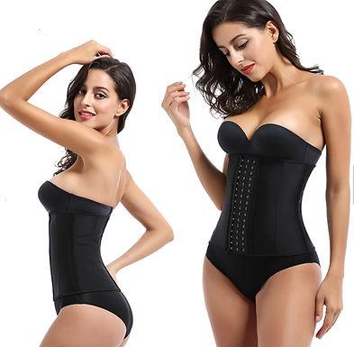 Cinta modeladora de cintura 100% latex, c/ 3 linhas de ganchos marca PALICY