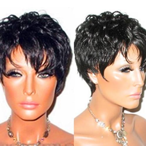 Peruca front lace curta de cabelo brasileiro virgem