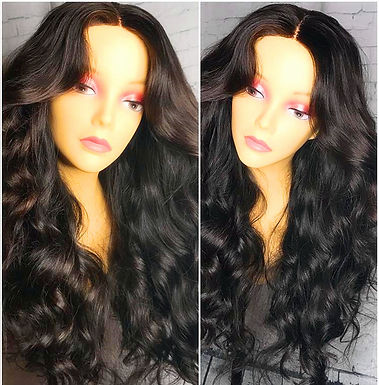 Peruca Front  Lace de cabelo humano, 180% Densidade, Onda Solta