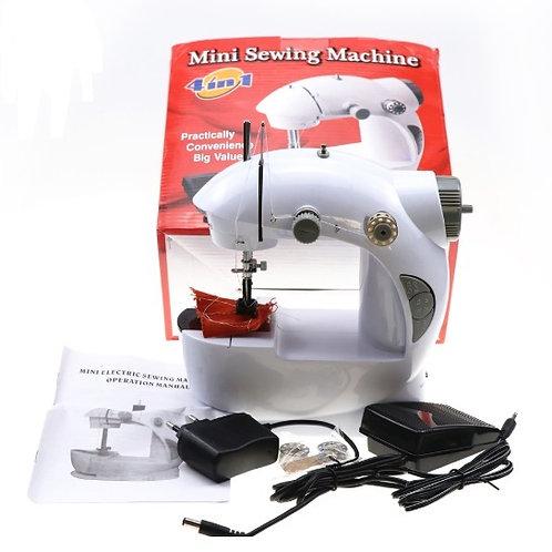 Mini máquina de costura eléctrica portátil