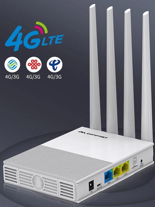 Roteador e Ponto de Acesso GSM 4G 300Mbps Sim Card e Antenas Exteriores CF-E3