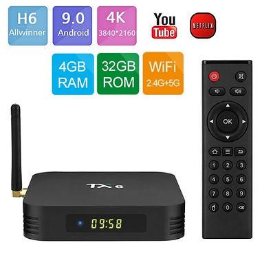 Smart TV BOX TANIX TX6  6K  Allwinner H6 4GB/32GB Android 9.0 WIFI