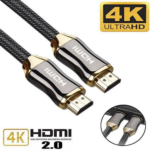 Cabo Trançado Ultra HD HDMI V2.0  Alta velocidade Ethernet