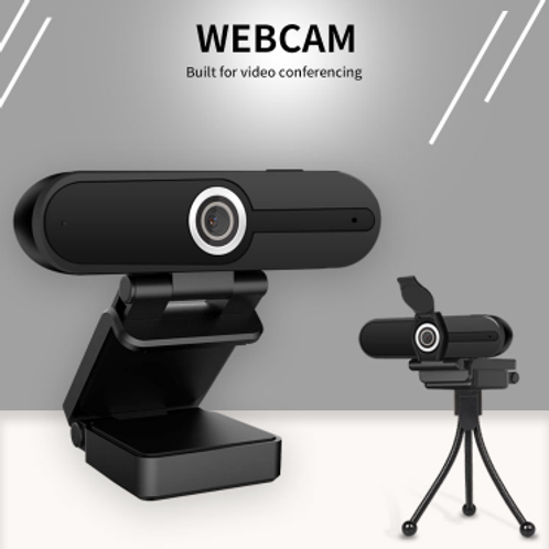Webcam para videoconferências 2MP e tripé