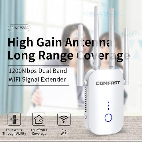 Roteador e Repetidor sem fios 1200mbps 5G wifi repeater wireless CF-WR758AC