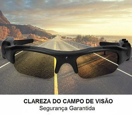 Óculos de sol polarizados com video câmera  1080p HD invisível