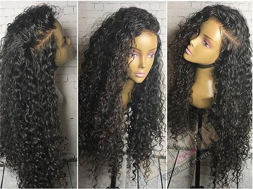 Peruca Front Lace de cabelo cacheado virgem brasileiro