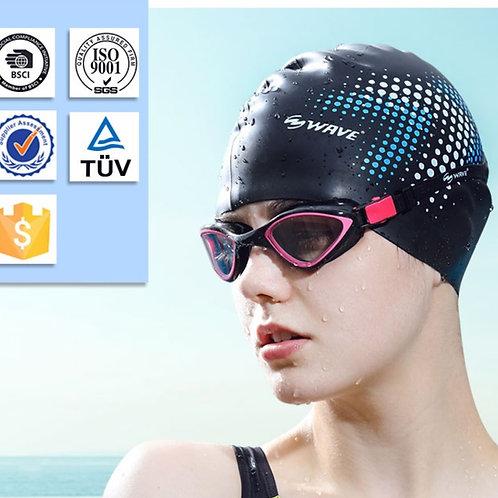 Touca de natação de silicone para adultos