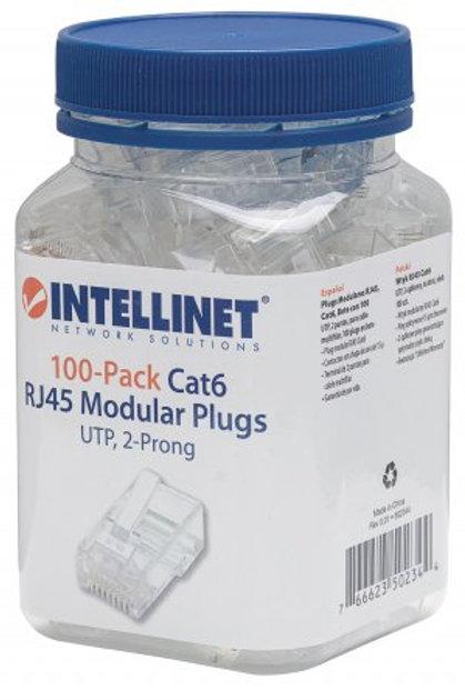 Conectores INTELLINET 100-Pack RJ45 Cat6 e Cat5