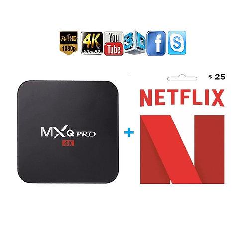 MXQ Pro 4K  1GB/8GB + NETFLIX Kit