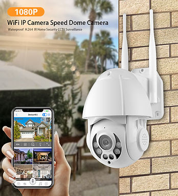 "Camera de segurança PTZ  Tuya Smart 1080P 3.0MP WIFI 2.4"" Real Time PST-ST-39"