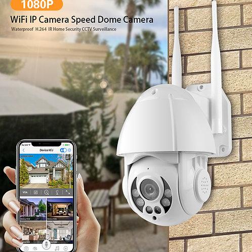 Mini camera de segurança PTZ  Tuya inteligente a prova d'água 1080P 2.0MP WIFI