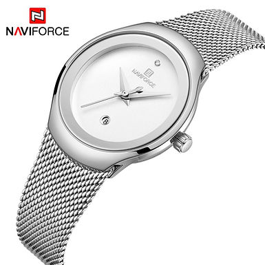 Relógio de pulso para mulher NAVIFORCE - prata