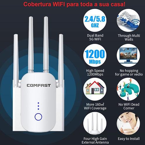 Repetidor e Roteador  sem fios 1200Mbps  5G wifi repeater wireless CF-WR758AC