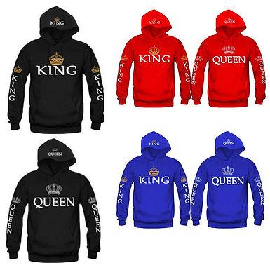 Casaco de capucho Queen e King