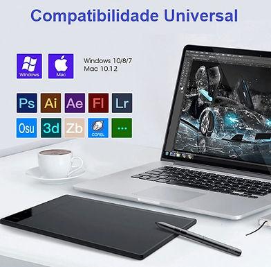 Bloco digital de escrita e desenho inteligente para laptop e PC VEIKK A30