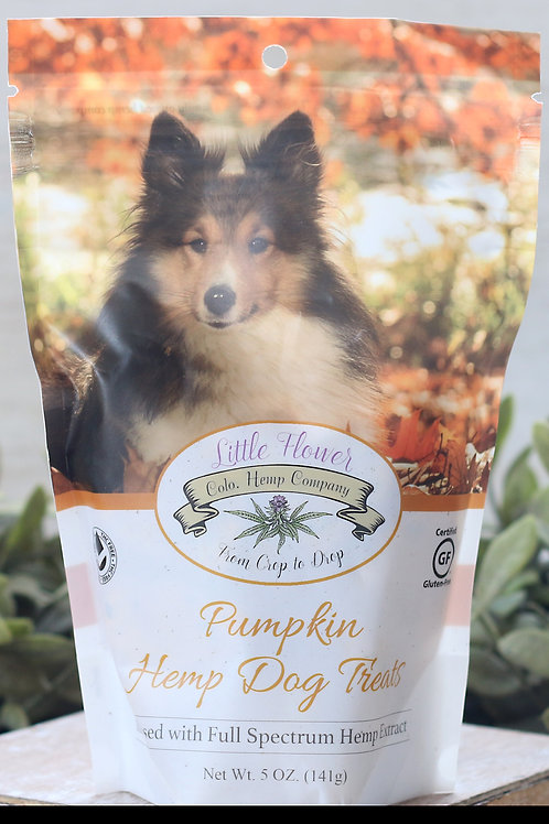 All natural dog treats infused with whole plant full spectrum hemp extract.