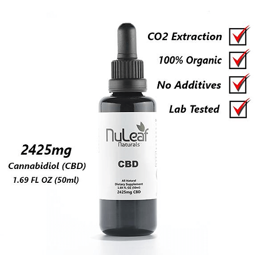 2425mg Full Spectrum CBD Oil, High Grade Hemp Extract (50mg/ml)