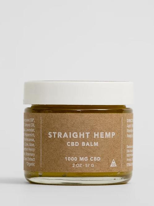 Straight Hemp CBD Balm 1000MG CBD/2OZ JAR