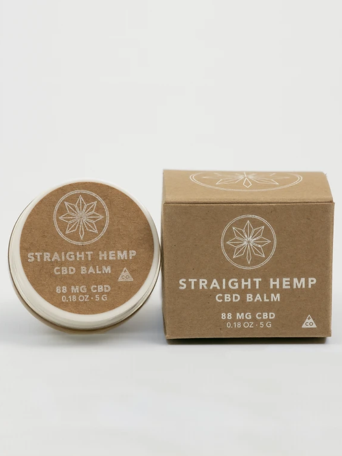 Straight Hemp CBD Balm 88MG CBD/0.18OZ JAR