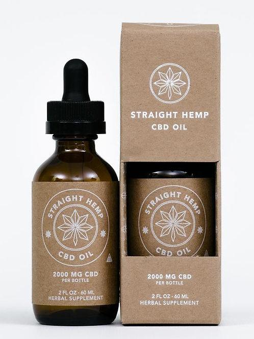 Straight Hemp Full Spectrum CBD Oil (2000mg CBD/60 mL bottle)