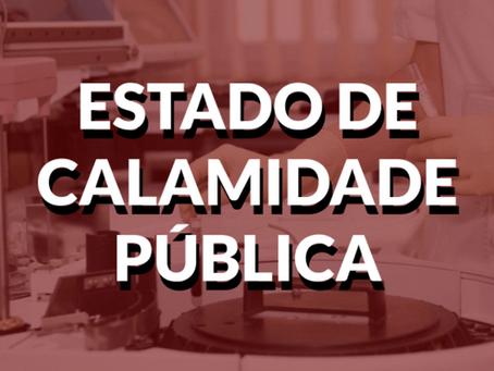 Município decreta estado de calamidade pública por causa da pandemia do Corona vírus
