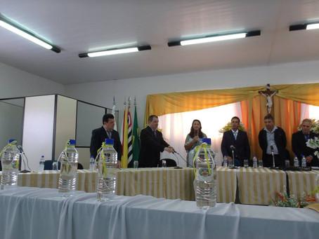 Sessão de Posse, Prefeito, Vice- Prefeito e Vereadores.