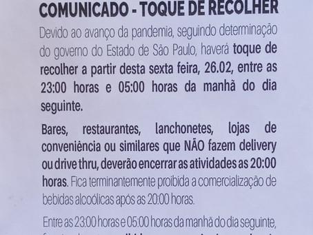 Atenção!!!!! TOQUE DE RECOLHER