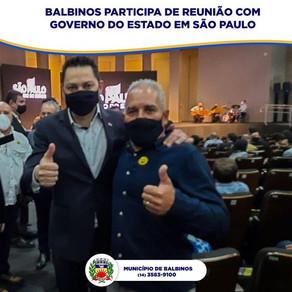 BALBINOS PARTICIPA DE REUNIÃO COM GOVERNADOR DO ESTADO